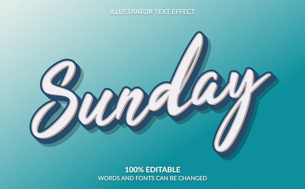 Editable text effect, classic retro text style