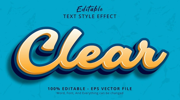 Editable text effect, clear text on headline color style effect