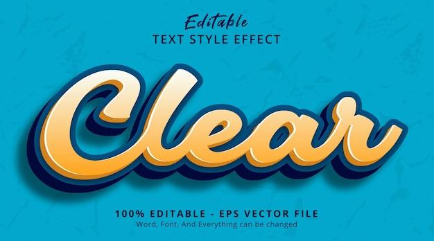 편집 가능한 텍스트 효과, 헤드라인 색상 스타일 효과의 텍스트 지우기