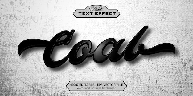 Редактируемый текстовый эффект, угольный текст