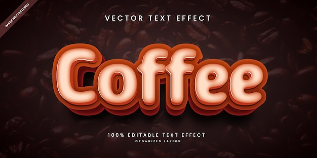 Editable text effect in coffee style