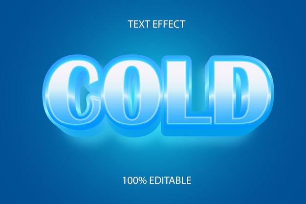 Editable text effect cold