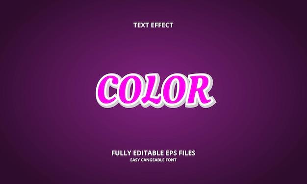 Редактируемый текстовый эффект цветного стиля заголовка