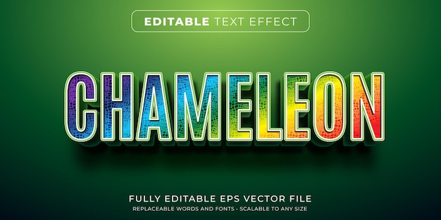 Editable text effect in colorful bold text style