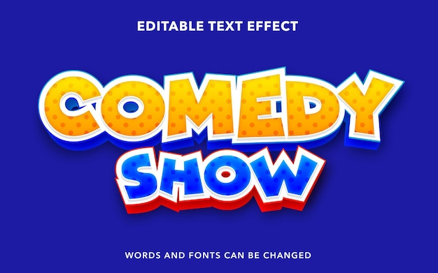 Editable text effect for comedy