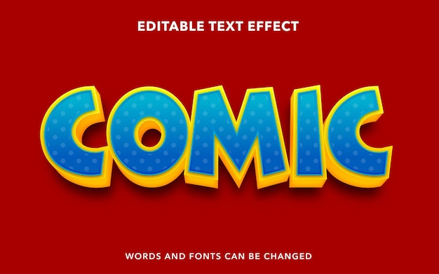 Editable text effect for comic