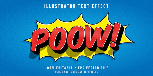 Editable text effect - comics expression style