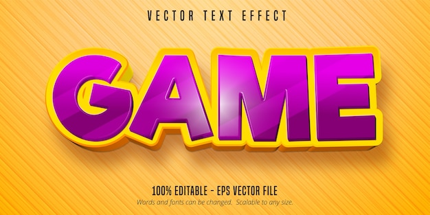 Editable text effect concept