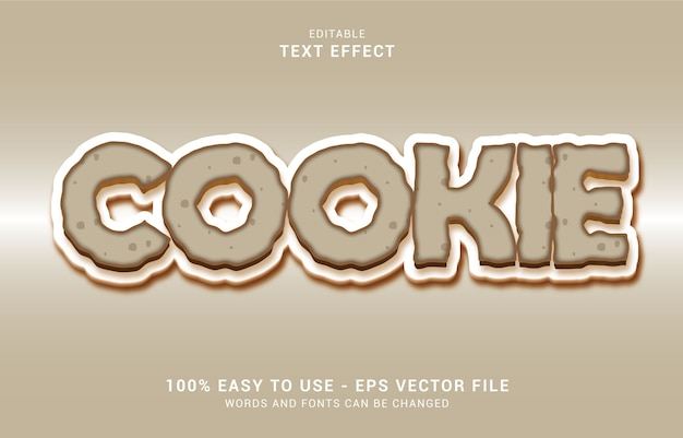 Editable text effect, cookie style