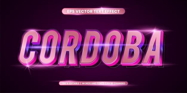 Editable text effect, cordoba words