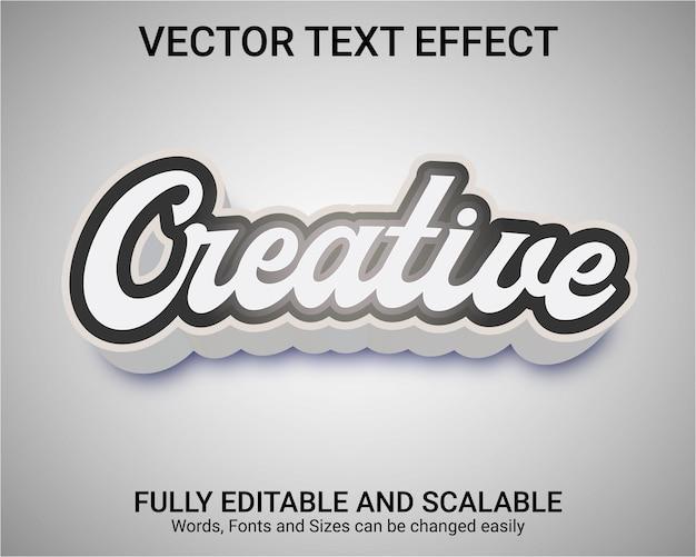 Редактируемый текстовый эффект - творческий стиль текста