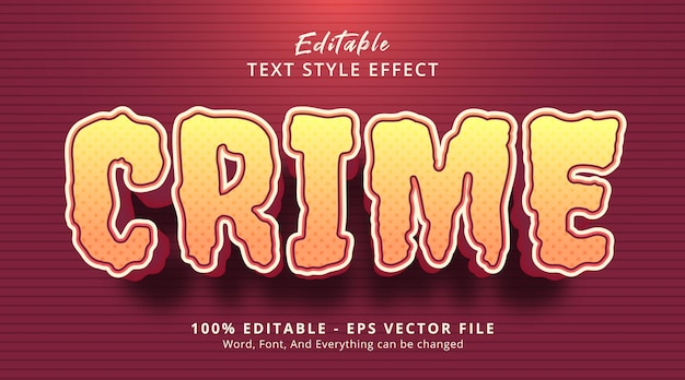 Editable text effect, crime text on headline poster style
