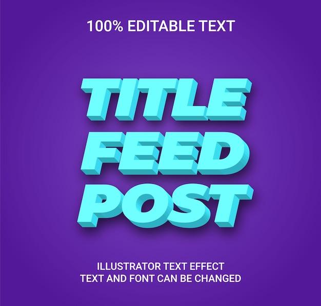 Редактируемый текстовый эффект - стиль текста cube box
