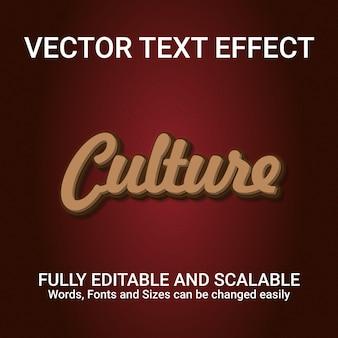 Редактируемый текстовый эффект культура текстовый стиль