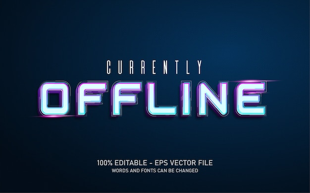 Editable text effect currently offline style