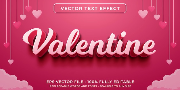 Editable text effect in cursive valentine style
