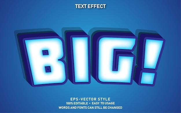Редактируемый текстовый эффект cute big