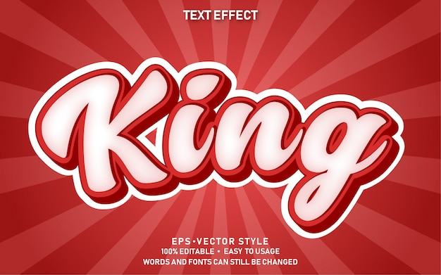 Editable text effect cute comic king