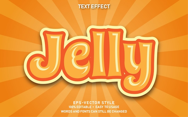 Editable text effect cute jelly