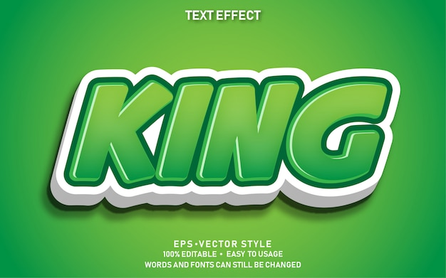 Editable text effect cute king