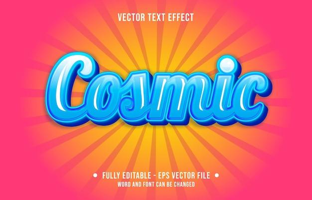 편집 가능한 텍스트 효과-청록색 우주 색상 예술적 스타일