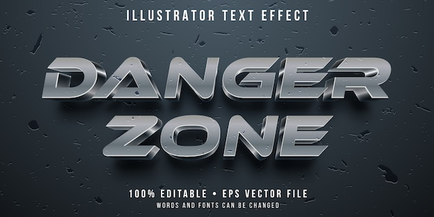 Editable text effect - damaged metal style
