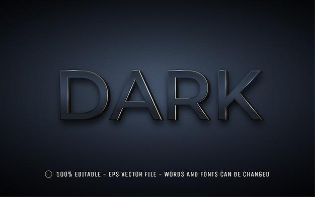 Editable text effect, dark style illustrations