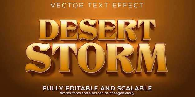 編集可能なテキスト効果、砂漠の嵐のテキストスタイル