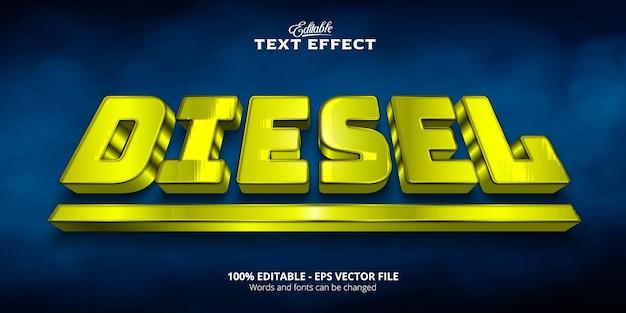 Editable text effect, diesel text
