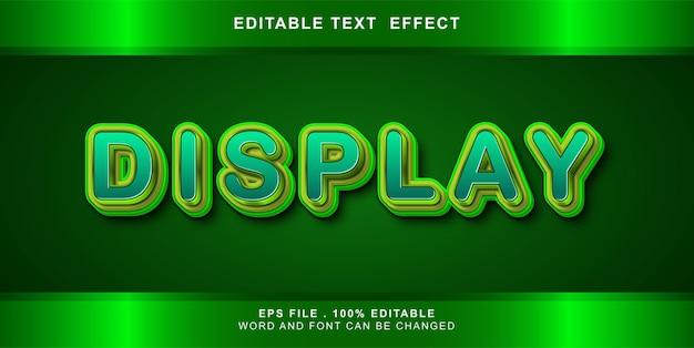 편집 가능한 텍스트 효과 표시