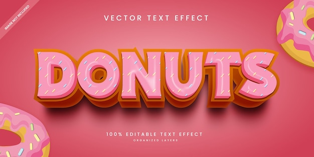 Editable text effect in donuts style