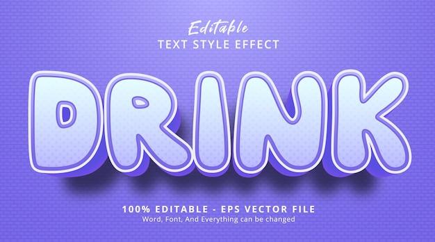 編集可能なテキスト効果、紫色の見出しの派手なスタイルでテキストを飲む