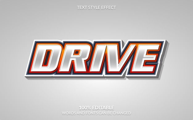 Editable text effect, drive text style