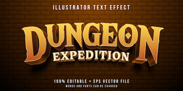 Editable text effect - dungeon game style