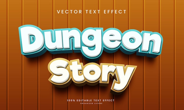 Editable text effect in dungeon story style
