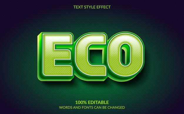 Редактируемый текстовый эффект, стиль текста eco green
