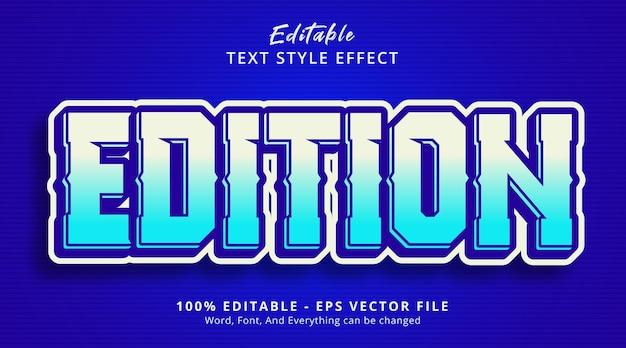 編集可能なテキスト効果、現代のポスタースタイルの効果に関するエディションテキスト