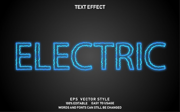 Editable text effect electric