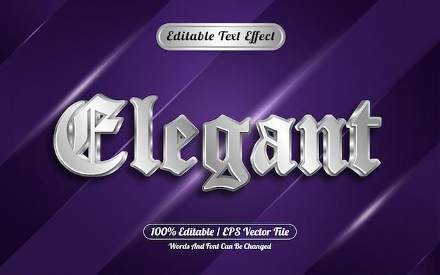 Editable text effect elegant style