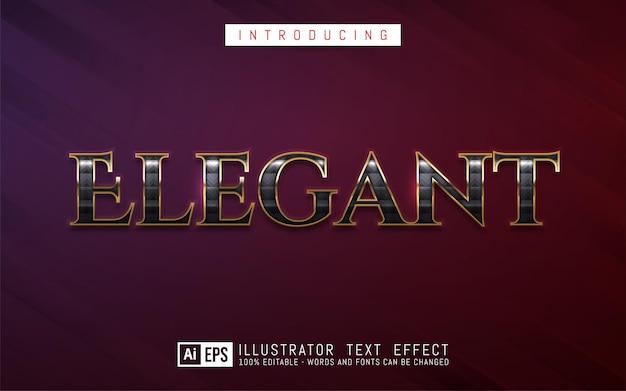 Editable text effect elegant text style concept