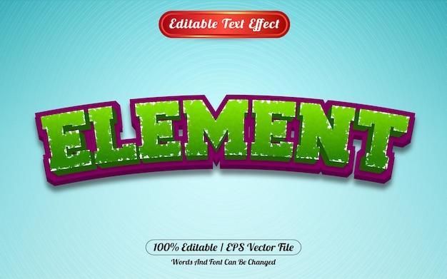 Редактируемый стиль шаблона элемента текстового эффекта