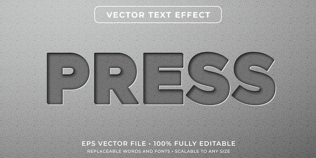 Editable text effect in embedded characters style