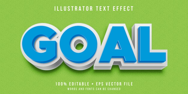Editable text effect - embossed bold text style