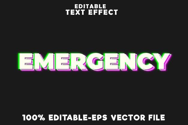 Редактируемый текстовый эффект аварийной ситуации в простом неоновом стиле фармацевта