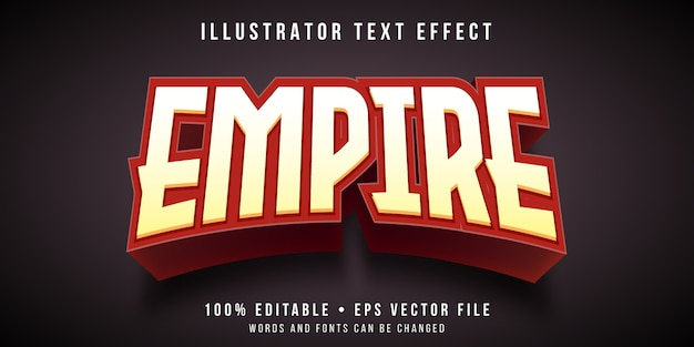 Editable text effect - empire game style
