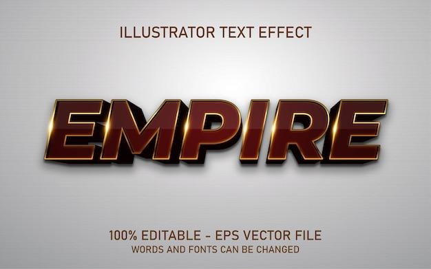 Редактируемый текстовый эффект, иллюстрации в стиле ампир