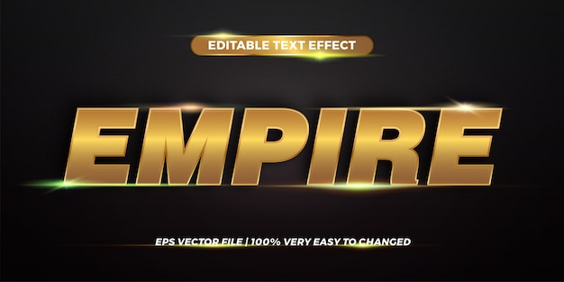 Editable text effect - empire text style  concept