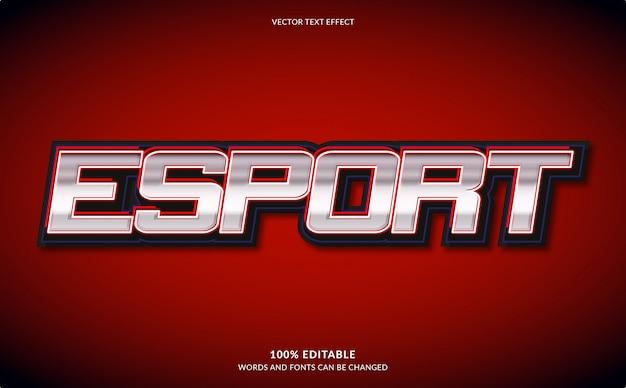 Редактируемый текстовый эффект, esport text style