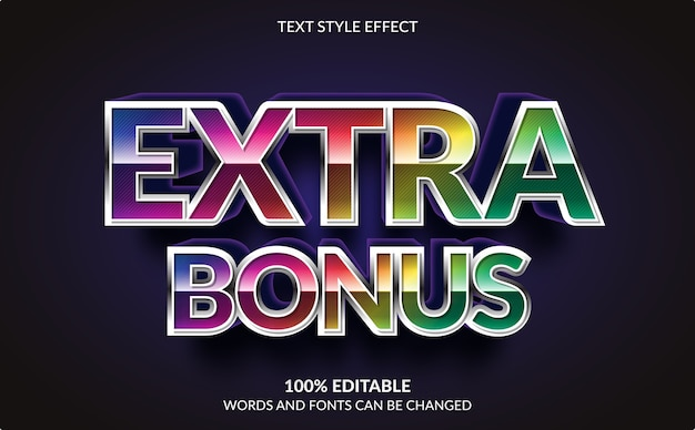 Editable text effect, extra bonus text style