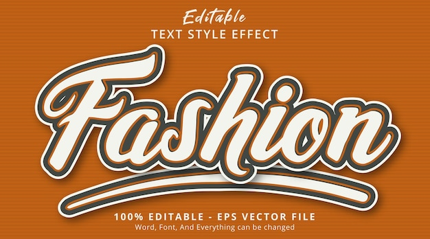 Editable text effect, fashion text on popular color combination effect